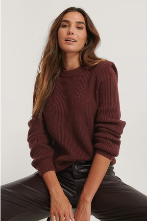 NA-KD Shoulder Detail Knitted Sweater