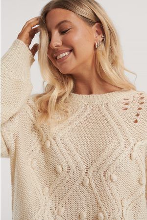 NA-KD Dame Strikkegensere - Bubble Detail Knitted Sweater