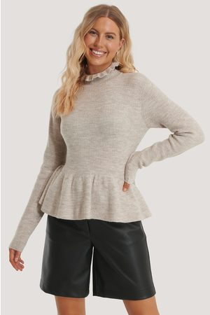 NA-KD Frill Detailed Knitted Sweater