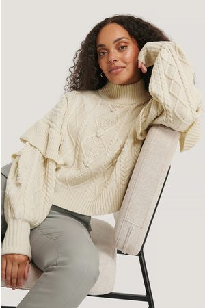 NA-KD Turtleneck Flounce Knitted Sweater