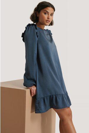NA-KD Shoulder Flounce Mini Dress