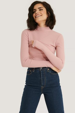 NA-KD Dame Pologensere - High Neck Cut Detail Top