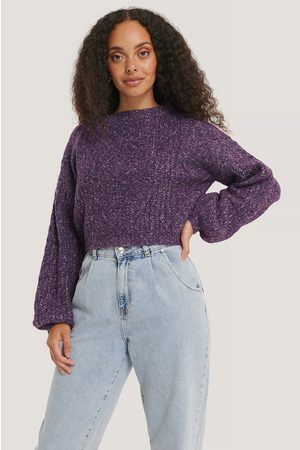 NA-KD Melange Knitted Cropped Sweater