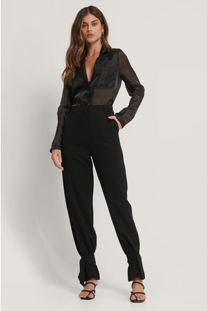 NA-KD High Waist Tie Suit Pants