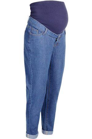 Boohoo Maternity Roll Hem Over The Bump Boyfriend Jeans
