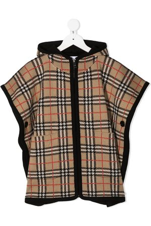 Burberry Jente Capes - Vintage check hooded cape