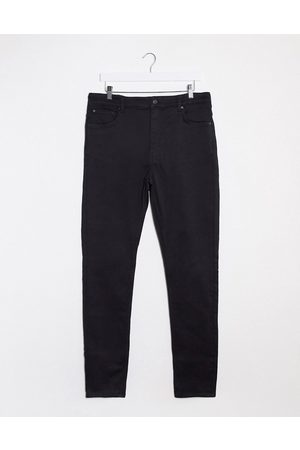 Weekday Body high waist extended sizes skinny jeans in black