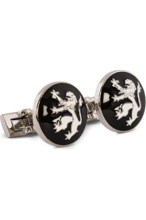 Skultuna Herre Mansjettknapper - Cuff Links The Lion Silver/Black/White
