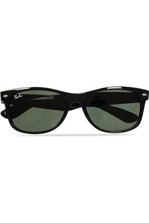 Ray-Ban Herre Solbriller - New Wayfarer Sunglasses Black/Crystal Green