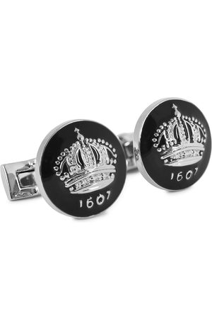 Skultuna Herre Mansjettknapper - Cuff Links The Crown Silver/Baroque Black