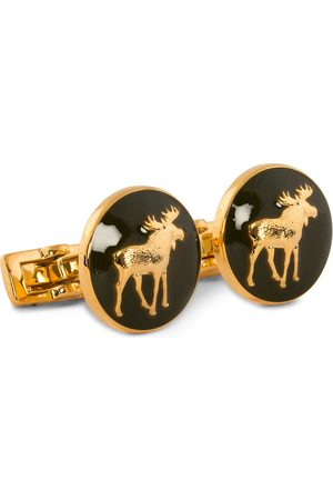 Skultuna Herre Mansjettknapper - Cuff Links Hunter The Moose Gold/Green