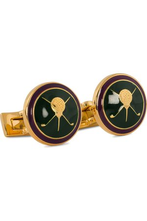 Skultuna Cuff Links Golf Gold/Green