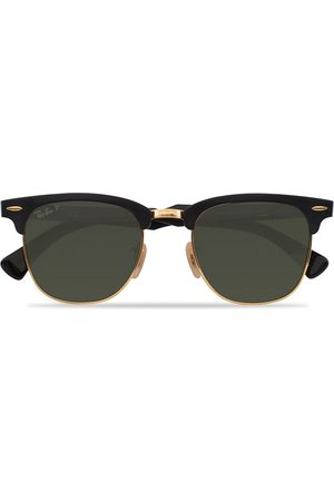 Ray-Ban 0RB3507 Clubmaster Sunglasses Black Arista/Polar Green