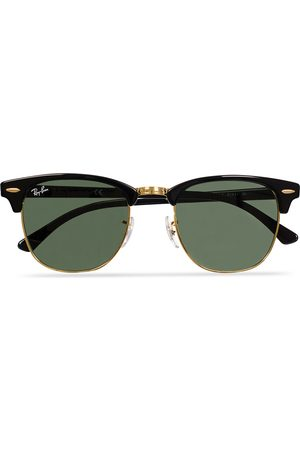 Ray-Ban Clubmaster Sunglasses Ebony/Crystal Green