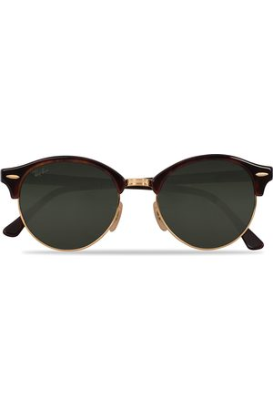 Ray-Ban 0RB4246 Clubmaster Sunglasses Red Havana/Green