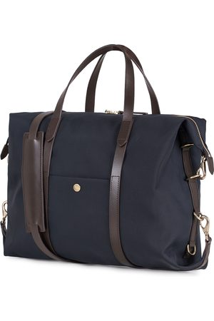 Mismo M/S Utility Nylon Duffle Bag Navy/Dark Brown