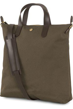 Mismo M/S Canvas Shopper Army/Dark Brown