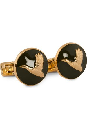 Skultuna Cuff Links Hunter Flying Duck Gold/Green