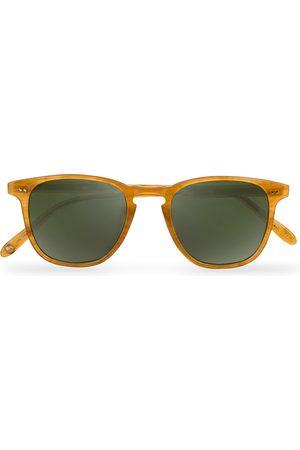 GARRETT LEIGHT Brooks 47 Sunglasses Butterscotch/Green Polarized