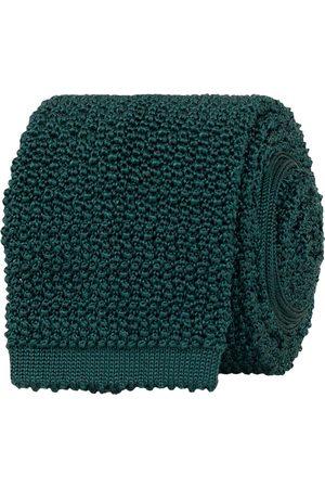 Drake's Herre Slips - Knitted Silk 6.5 cm Tie Green