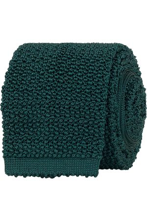 Drake's Knitted Silk 6.5 cm Tie Green