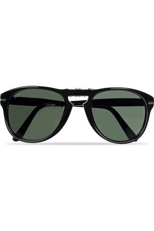 Persol PO0714 Folding Sunglasses Black/Crystal Green