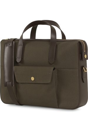 Mismo M/S Canvas Briefcase Army/Dark Brown