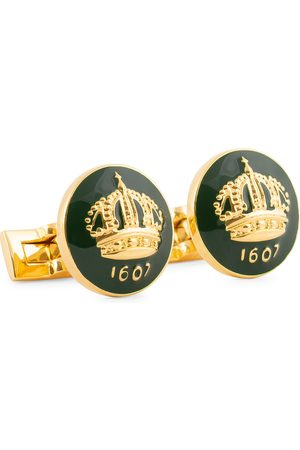 Skultuna The Crown Cufflinks Green