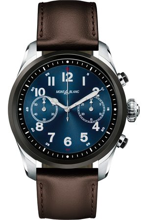 Mont Blanc Summit2 42mm Smartwatch Steel Bicolor / Brown Calf