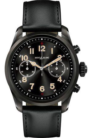 Mont Blanc Summit2 42mm Smartwatch Steel Black DLC / Black Calf
