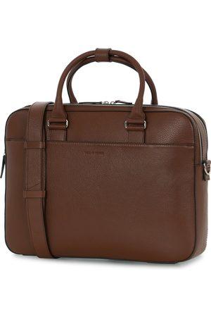 Tiger of Sweden Herre Kofferter - Burin Grained Leather Briefcase Brown