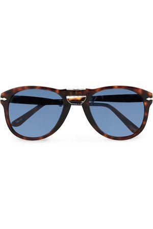 Persol Herre Solbriller - 0PO0714 Folding Sunglasses Havana/Blue Gradient