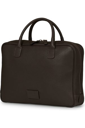 Anderson's Full Grain Leather Briefcase Dark Brown