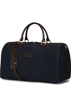 Anderson's Boston Suede Weekendbag Navy/Brown