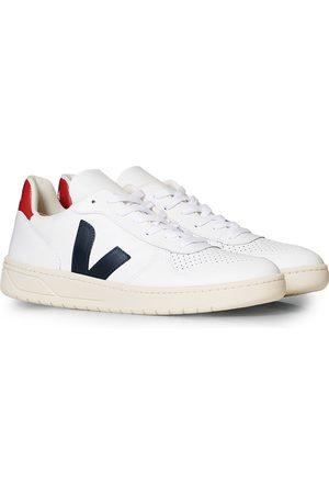 Veja V-10 Leather Sneaker Extra White/Nautico Pekin