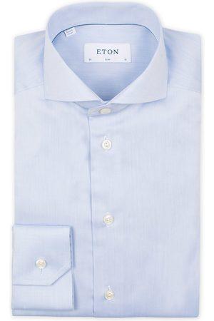 Eton Slim Fit Twill Cut Away Shirt Light Blue