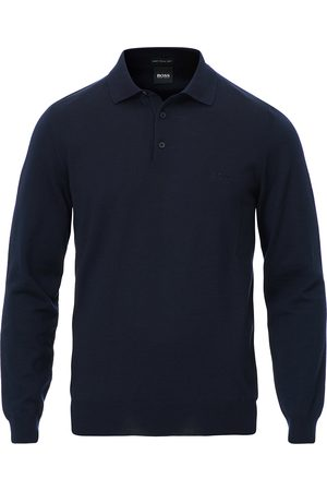 HUGO BOSS Bono Knitted Polo Dark Blue