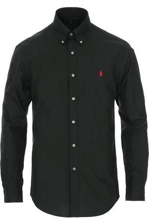 Polo Ralph Lauren Slim Fit Shirt Poplin Polo Black