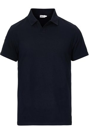 Filippa K Soft Lycra Polo T-Shirt Navy