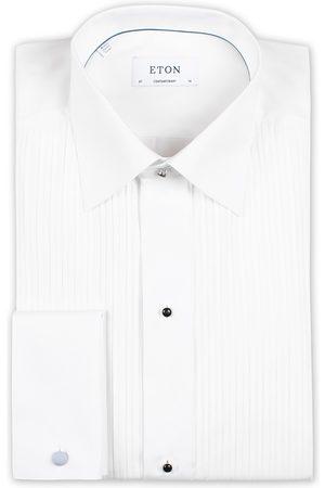Eton Custom Fit Tuxedo Shirt Black Ribbon White