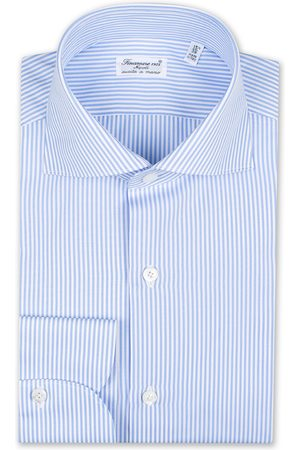 Finamore Napoli Milano Slim Fit Classic Shirt Blue