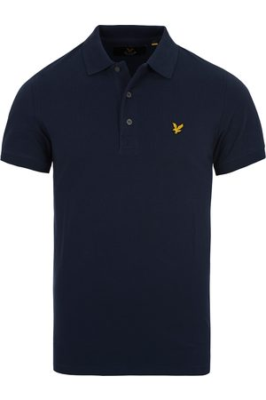 Lyle & Scott Plain Pique Polo Shirt Navy