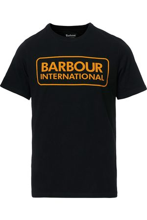 Barbour Large Logo Crew Neck Tee Black