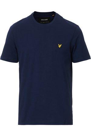 Lyle & Scott Plain Crew Neck Cotton T-Shirt Navy