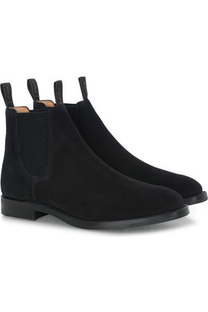 Loake Chatsworth Chelsea Boot Black Suede