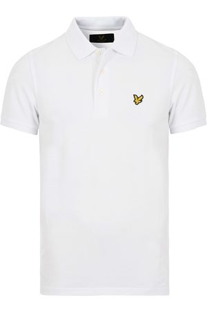 Lyle & Scott Plain Pique Polo Shirt White