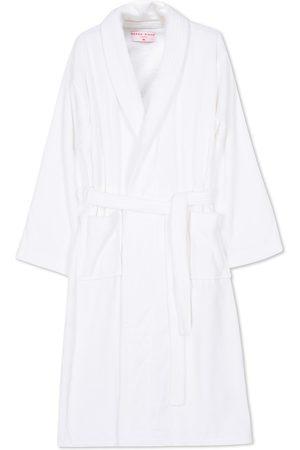 DEREK ROSE Cotton Velour Gown White