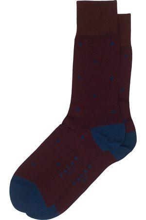 Falke Cotton Dot Sock Barolo/Navy