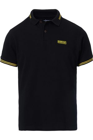 Barbour Essential Tipped Polo Black