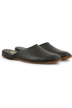 Crockett & Jones Mule Calf Home Slipper Black